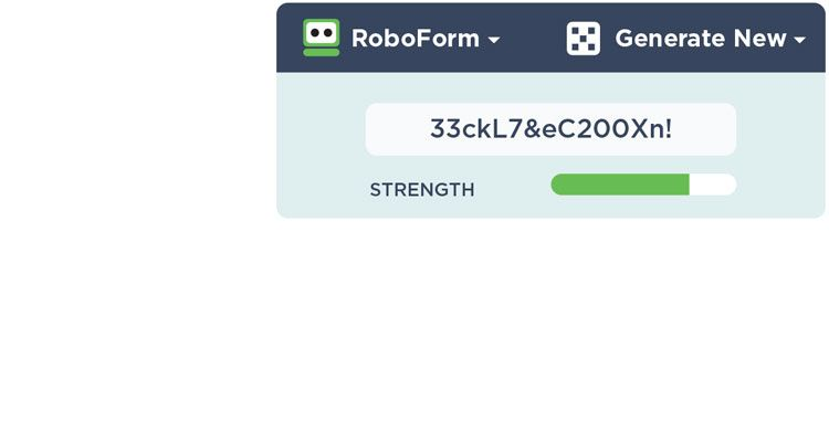genereer wachtwoorden roboform